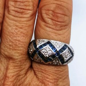 QVC Sapphire and sterling ring